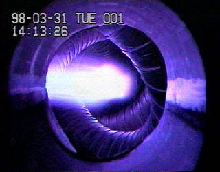 Plasma in Japan's gloriously literal Large Helical Device, a superconducting stellarator