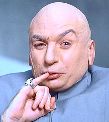 And Dr Evil could admit that he was bald.