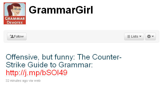 grammar girl retweet