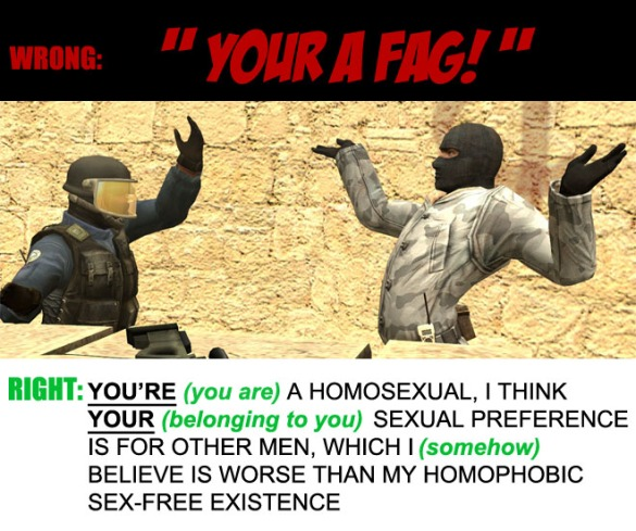 your a fag