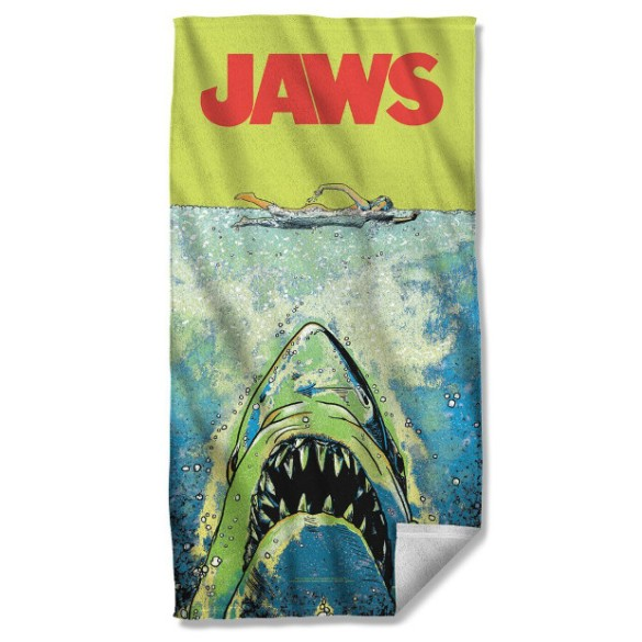 The only towel to keep you dry by scaring you out of getting wet